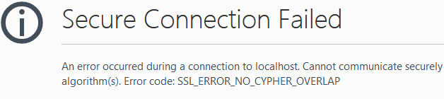 SSL ERROR NO CYPHER OVERLAP